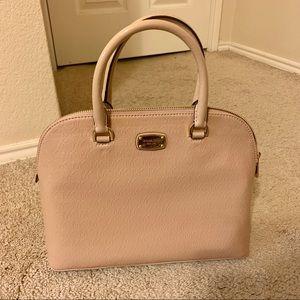 Michael Kors nude patent leather satchel NWT